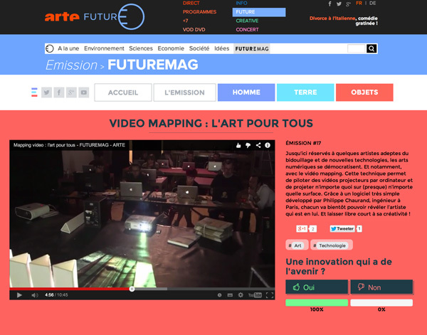 VideoMapping sur ARTE
