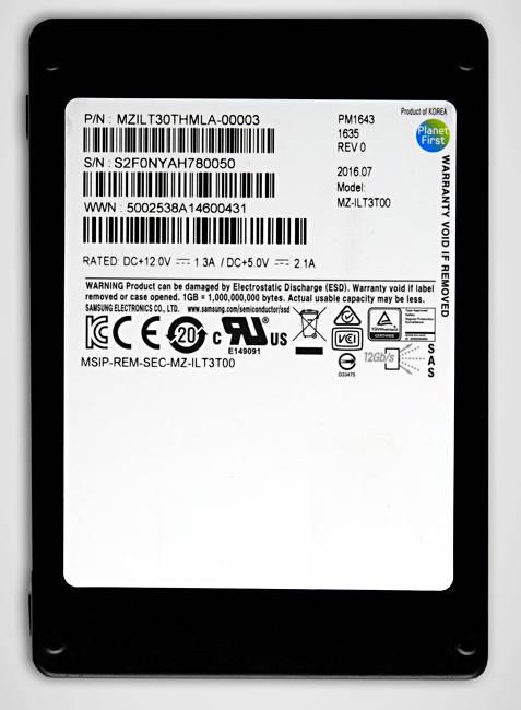 SSDSAS 12Gb/s PM1643 de Samsung