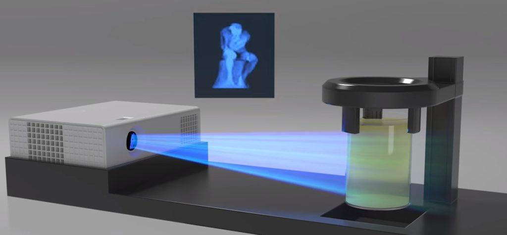 impression 3D avec un vidéoprojecteur